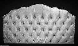 32'' inch TALL Crushed Velvet Shimla Headboard with Diamonds All Color Sizes