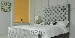 Brand New Fabric Upholstered Bed Frame With Colors Option Solid Hand Made In Uk