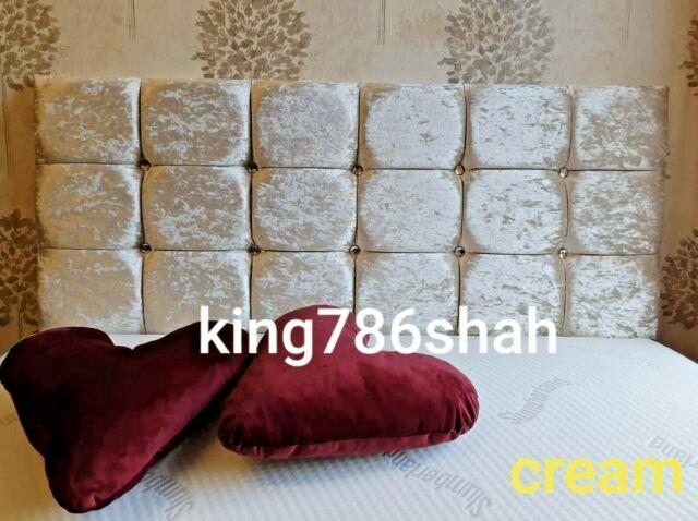 Crush Velvet Headboard Divan Bed Qiub Style And All Size & Colour Fast & Free