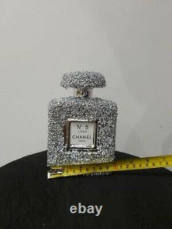 Crushed Crystal Diamond Silver Bling Perfume Bottle S Ornament NEW SPECIAL OFFER
