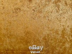 Crushed Velvet Sleigh Bed Chesterfield Fabric Bed 4FT6 Double 5FT King Size 6FT