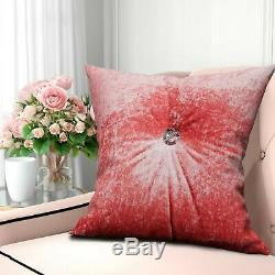 Luxury Crushed Velvet Cushions Small Large Rectangle Filled Cushion Sofa Pillows