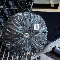 Luxury Crushed Velvet Cushions Small and Large Round & Rectangle Filled Cushion