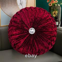 Luxury Crushed Velvet Round Filled Cushion Small & Large Cushions Sofa Pillows