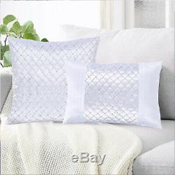 Luxury Crushed Velvet Sequin Small & Large Filled Cushion Covers Pillow Cases