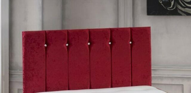 Luxury Exquisite Crushed Velvet Florence Headboard All Sizes In Stock
