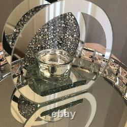 Silver Crushed Crystal T/ Light Candle Holder Home decoration Accessory