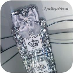 Silver Crystal Small Perfume Bottle Ornament Home Decor Crushed Diamond Bling
