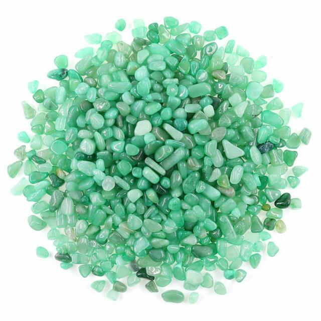 Swpeet 1.1 Pound Small Tumbled Chips Stone Gemstone Chips Crushed Pieces Irregul