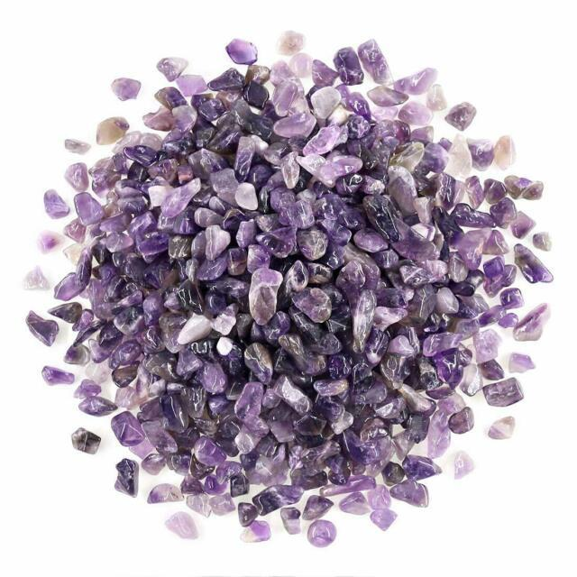 Swpeet Amethyst Small Tumbled Chips Stones Gemstones Chips Crushed Pieces